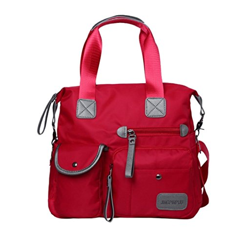 Bags School Color Bag Bag Women's Crossbody Red Shoulder Travel Handbags Travel Women Zipper for Rucksack Bag Shoulder Crossbody Solid Bag Waterproof Nylon AxxpqUPf