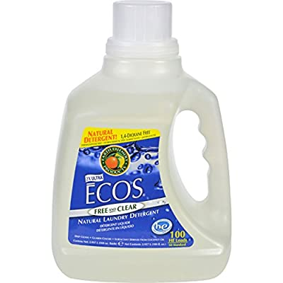 2Pack! Earth Friendly Ecos Ultra 2x All Natural Laundry Detergent - Free and Clear - Case of 4 - 100 fl oz