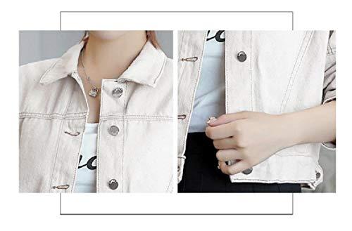 Winter Denim Collar Khaki Jacket Down Howme Fall Women Turn Jeans Premium FETqxRY