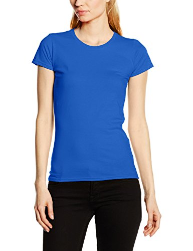 Fruit of the Loom Ss125m, Camiseta para Mujer Azul (Royal Blue)