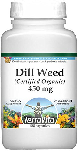 Dill Weed (Certified Organic) - 450 mg (100 Capsules, ZIN: 517643) by TerraVita