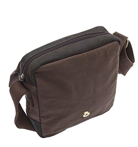 Wombat Leather , Borsa Messenger  Marrone marrone 22 x 27 x 8 cm