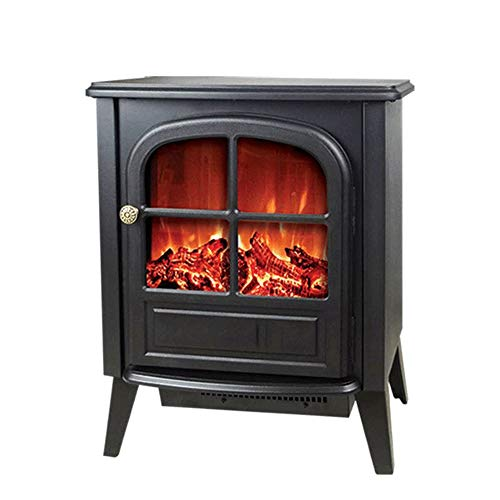 Cheap RKRGQ 900/1800W Electric Fireplace Freestanding Fireplace Fireplace Stove Heater Log Burner Electric Fire Stove Electric Fireplace Heater with Realistic Flame Effect Overheat Protection(Black) Black Friday & Cyber Monday 2019