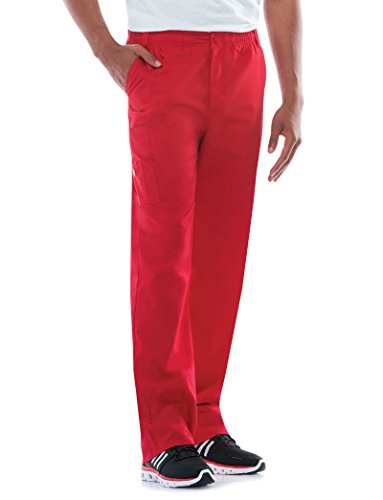 Signature Drawstring Pants - Dickies EDS Signature Men's Zip Fly Pull On Scrub Pant Large Red