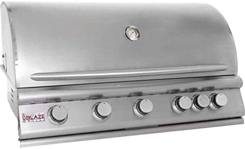 40 5-Burner Built-In Gas Grill with Rear Infrared Burner Gas Type Propane