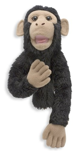 Melissa & Doug Bananas the Chimp Puppet With Detachable Wooden Rod for Animated Gestures