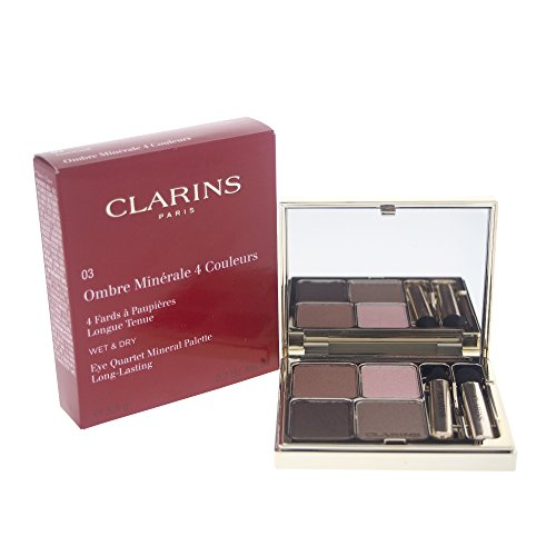 Clarins Eye Quartet Eyeshadow Mineral Palette for Women, Rosewood, 0.2 Ounce (Quartet Eyes For Color Clarins)