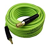 YOTOO Hybrid Air Hose 3/8-Inch by 50-Feet 300 PSI Heavy Duty, Lightweight, Kink Resistant, All-Weather Flexibility with 1/4-Inch Industrial Quick Coupler Fittings, Bend Restrictors, Green