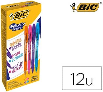 Boligrafo bic gelocity illusion borrable caja de 12 unidades ...