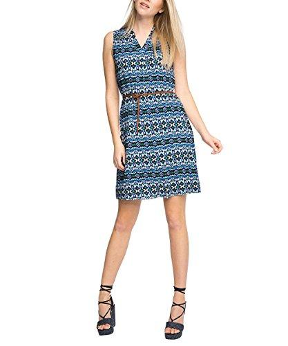 Damen Mehrfarbig Collection 400 Navy Kleid ESPRIT Pq8w4Y5