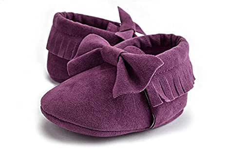 HEHGU Toddler Baby Moccasins Tassels Soft Sole Non-Slip First Walkers Shoes