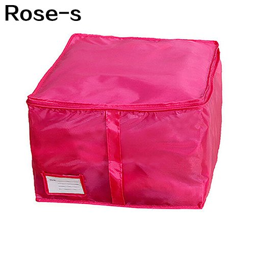 yanbirdfx Clothes Bedclothing Duvet Pillows Zipper Storage Bag Box Hand Handles Luggage Rose-m by yanbirdfx (Image #7)