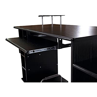 HomCom Multi-Level Home Office / Dorm Computer Desk - Black