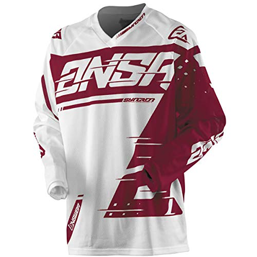 Answer Racing A18.5 Syncron Air Youth Boys Off-Road Motorcycle Jersey - White/Red/Small