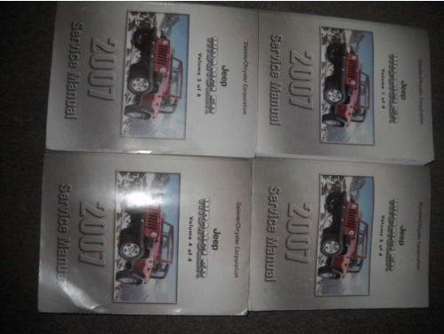 2007 JEEP WRANGLER Service Shop Repair Workshop Manual Set OEM FACTORY (Factory Repair Manual)