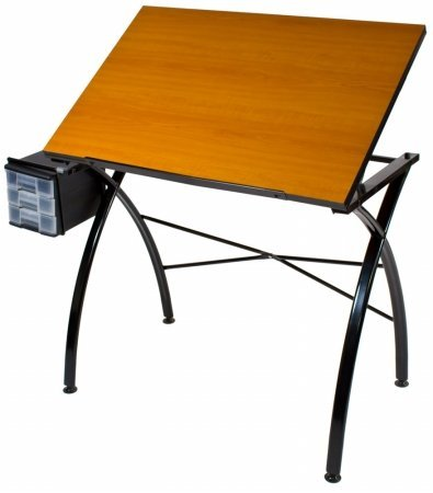 Martin Universal Design Line Drawing Table with Cherry Wood Top