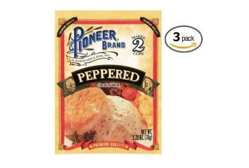 (Pioneer Brand Peppered Gravy Mix (2.75 oz Packets) 3 Pack)