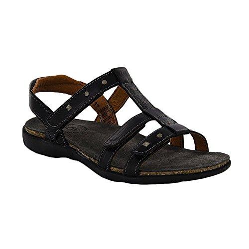 (Taos Women's Enchanted Sandal, Black Smooth, Size - 42)