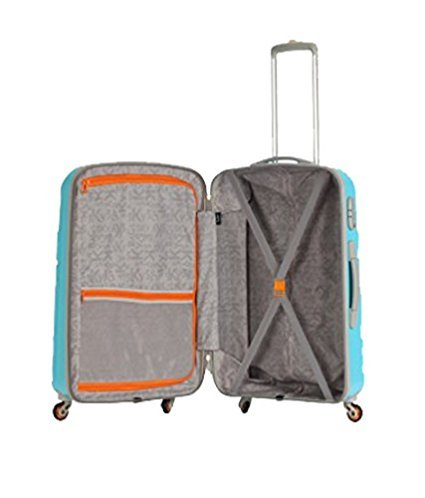 8fdf4af90eb7 Skybags Mirage Polycarbonate 106 L Blue Hard-sided Trolley Bag  Amazon.in   Bags
