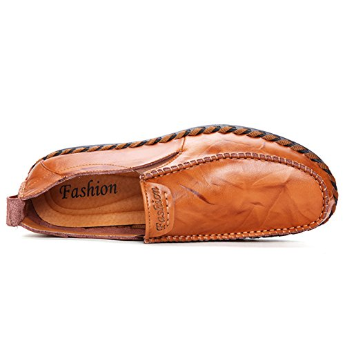 Casual Loafers Shoes Brown01 Mens Sanyes Shoes Slip On Mens Mens Leather Shoes Tavwqz0