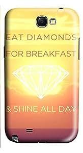 Samsung Note 2 Case Eat Diamonds For Breakfast 3D Custom Samsung Note 2 Case Cover