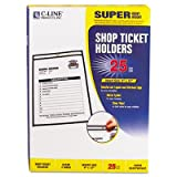 Shop Ticket Holders, Stitched, Both Sides Clear, 9 x 12, 25/BX, Total 125 EA, Sold as 1 Carton