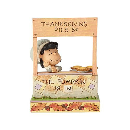 Department56 Enesco Peanuts by Jim Shore Lucy Thanksgiving Pie Stand Figurine -