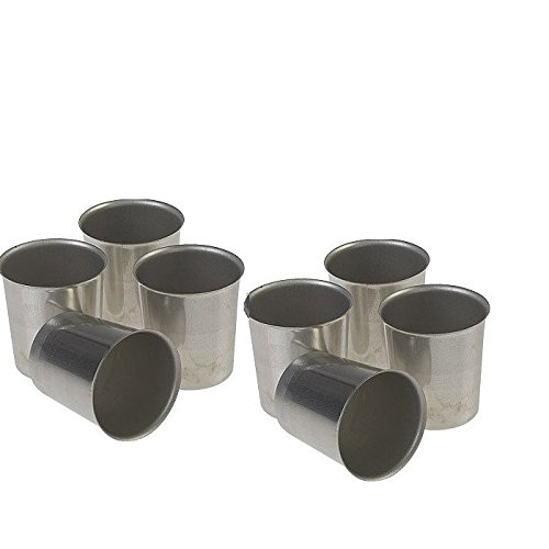 10 X Seamless Metal Votive candle Containers mold (Votive Mold)