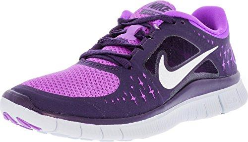 NIKE Women's Free Run+ 3 Laser Purple/Reflect Silver Grand Ankle-High Running Shoe – 6M