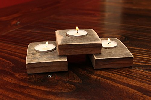 Whiskey Barrel Tealight holder, Tea light holder, Rustic wedding candle holder, gift for men, Rustic candle holder, Wooden tealight holder