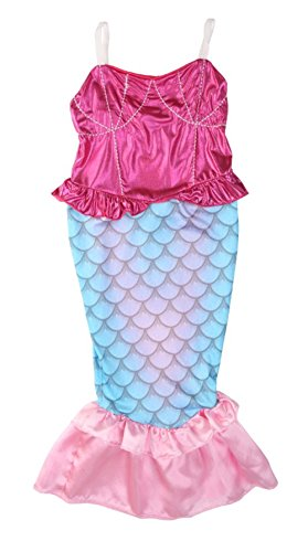 StylesILove Kids Girl's Princess Mermaid Dress Halloween Party Costume (130/8-9 (1 Year Old Halloween Costume Patterns)