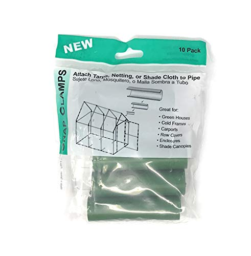 Snap Clamp 3/4 Inch x 4 Inches Wide for 3/4 Inch PVC Pipe Green 10 per Bag by Circo