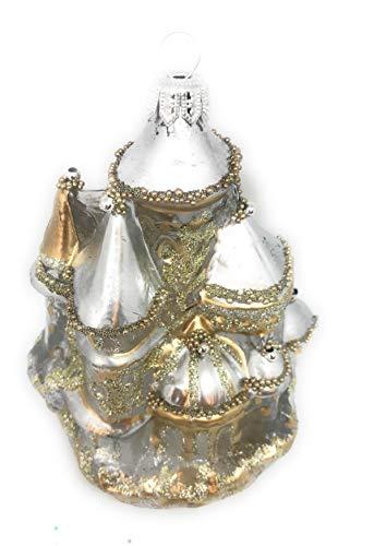 Noel Rue Christmas Tree Ornament Hand Blown Glass Made in Czech Castle Kingdom