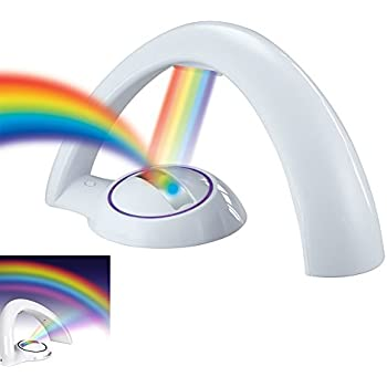 NOPTEG Rainbow Projector Room Night Light LED Color Lamp Magic Romantic  Lights For Kids,add
