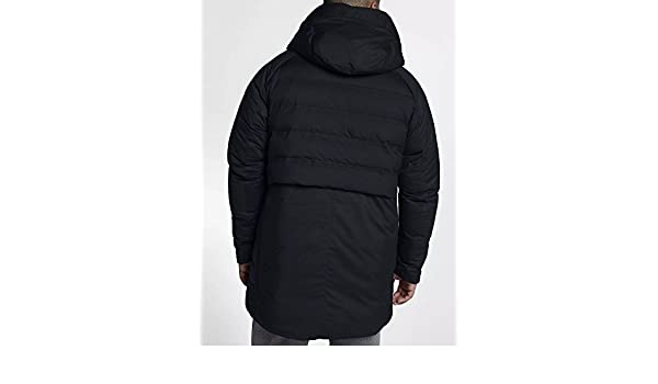 68ee548ab3ba Nike Men s Jordan Aeroloft HD Parka Down Jacket 886442 010 Size XL Black   Amazon.ca  Clothing   Accessories