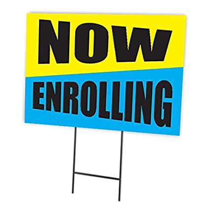 Image result for now enrolling sign