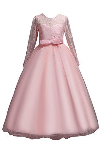 Festlich Gr 170 Mädchen Misshow Kleid Rosa 120 Hochzeit Abendkleid UzMGqpSV