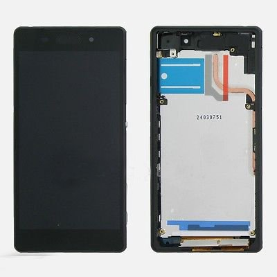 LCD display Digitizer touch screen Assembly For Sony Xperia Z2 D6502 D6503 D6543 with free tools (Black w/ Frame)