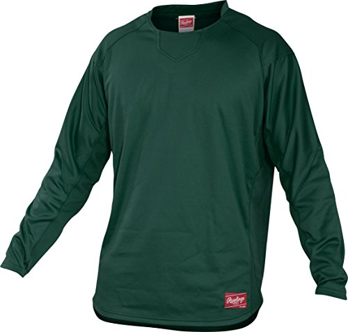 Rawlings  Adult Dugout Fleece Pullover, X-Large, Dark Green