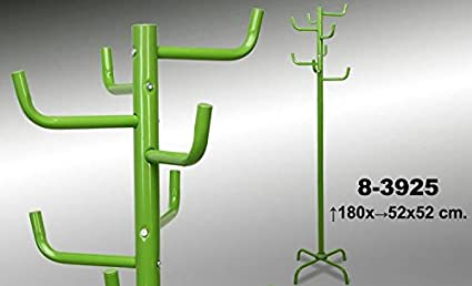 DRW - Perchero de pie y de Metal en Color Verde 180x52x52 cm ...