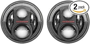 JW Speaker LED Headlights, Model 8 Evolution J8 Series with CARBON FIBER  Bezel, Set of 8
