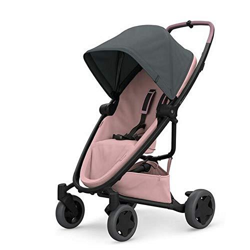 Quinny ZAPP FLEX PLUS Graphite on Blush - Cochecito urbano, flexible y ultracompacto, asiento reclinable bidireccional, de 6 meses a 3.5 anos, color grafito y rosa