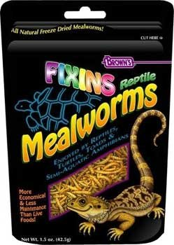 Small Animal Supplies Fixins Mealworms For Reptiles 1.5Oz by Pay It Forward Pet Supply (Image #1)