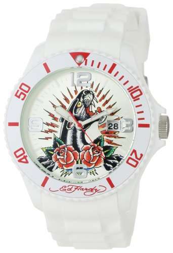 Hardy Roses Ed Womens (Ed Hardy Women's MH-PR Matterhorn Panther Rose Watch)