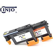 INJO 940 Printhead Replacement for HP940 Print Head C4900A C4901A For HP Officejet Pro 8000 8500 8500A 8500A Plus 8500A Premium (Cyan/Magenta/Black/Yellow C4900A and C4901A)