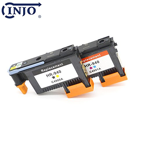 Replacement Printhead (INJO 940 Printhead Replacement for HP940 Print Head C4900A C4901A For HP Officejet Pro 8000 8500 8500A 8500A Plus 8500A Premium (Cyan/Magenta/Black/Yellow C4900A and C4901A))