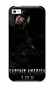 Premium Case With Scratch-resistant/ Chris Evans In Captain America 2011 Case Cover For Iphone 5c