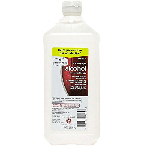 91% Isopropyl Alcohol 32 fl oz bottle (1 bottle) (32 Oz Rubbing Alcohol)