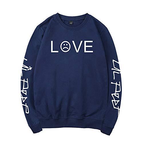 Maglione Popolare Pullover Casual E Lil Stampa Unisex Collo Peep Dark Lettera Sweatshirt Blue Moda Rotondo Donne Semplice Per Uomo Phenvivo 1POAx