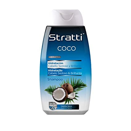Stratti Coco - Champú Hidratación con Keratina, sin Sal - 400 ml